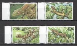 W133 FIJI FAUNA REPTILES LIZARDS #1048-51 MICHEL 10,5 EURO 1SET MNH - Reptiles & Batraciens