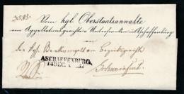 Bayern-uralter Heimat Beleg-Aschaffenburg  ...... -bitte Lesen !!    (op585  ) Siehe Scan - Bavaria
