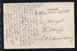 """L2 Feldpost S.M.S. """"Prinz Heinrich"""" Auf Feldpost-Foto-AK (SMS Prinz Heinrich) - Unclassified"""