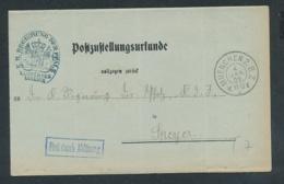 Bayern-uralter Heimat Beleg- Zustellurkunde -München   (op1106   ) Siehe Scan - Bayern