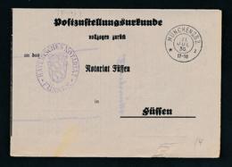 Bayern-uralter Heimat Beleg- Zustellurkunde - München  (op1114   ) Siehe Scan - Bayern