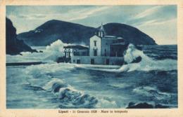 12451 - Lipari - 11 Gennaio 1928 - Mare In Tempesta ( Messina ) F - Messina