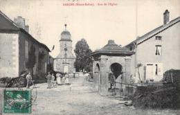 C P A [70] Haute Saône  Carte Animée Rue De L'église Le Puits Cachet Vauconcourt 1912 - Francia