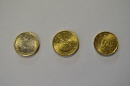 SAN MARINO 2002 - 1 € - 0,50 - 0,20  CENT. - MONETE DA ROTOLINO - San Marino