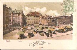 BASEL (Bâle-Ville-BS) Markt - Marché En 1907  (Dos Non Divisé) - BS Basel-Stadt