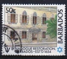 Barbados 1987 Single 50c Stamp Celebrating The Restoration Of Bridgetown Synagogue. - Barbados (1966-...)