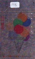 Telecarte JAPON * (1918) BALLON * MONTGOLFIERE - Hot Air Balloon * Aerostato * Heißluft PHONECARD JAPAN - - Sport