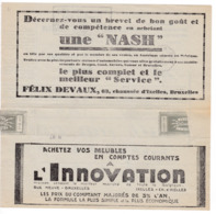 161/30 -Télégramme Publicitaire BOXTEL NL Vers Télégraphique EESCHEN 1931 - Automobiles NASH + Meubles INNOVATION - Telegraph