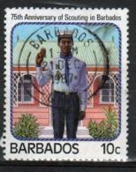 Barbados 1987 Single 10c Stamp Celebrating The 75th Anniversary Of Scouting. - Barbados (1966-...)