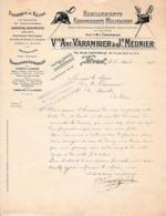 1912 LYON - Habillements, Equipements MILITAIRES, SAPEURS-POMPIERS - Vve Ant. VARAMBIER & Jh. MEUNIER - Documents Historiques