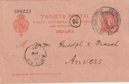 ESPAGNE 1901   ENTIER POSTAL/GANZSACHE/POSTAL STATIONERY CARTE DE BARCELONE - Stamped Stationery