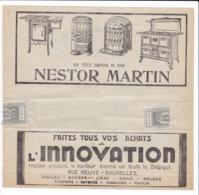 163/30 -Télégramme Publicitaire Vers Télégraphique OOSTENDE(C) 1930 - Chauffages Et Cuisinières NESTOR MARTIN - Telegraph