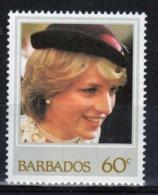 Barbados 1982 Single 60c Stamp Celebrating Princess Diana's Birthday. - Barbados (1966-...)