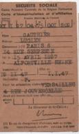 Carte D'immatriculation Et D'Affiliation / Sécurité Sociale/Gauthier/ ALFORTVILLE/Seine/Versailles/1947   VPN268 - Ohne Zuordnung