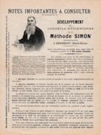 CHAUMONT (52) Conseils Hygiéniques MÉTHODE SIMON, Herboriste - Mastiquez, Salivez... - Historische Documenten