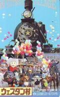 Telecarte JAPON * (1920 BALLON * MONTGOLFIERE - Hot Air Balloon * Aerostato * Heißluft PHONECARD JAPAN - TRAIN - Sport