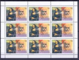 MK 2002-252 550A°LEONARDO DA VINCI, MACEDONIA, MS, MNH - Macédoine