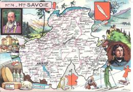 CARTE GEOGRAPHIQUE - Département De LA HAUTE SAVOIE - Par PINCHON - Landkarten