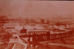 Photo Diapo Diapositive Slide L'Age Industriel En Europe Usine De Plans à St Jean De Maurienne Aluminium 1910 VOIR ZOOM - Dias