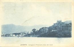 12961 - Levanto - Spiaggia E Miramare Preso Dal Mare - (La Spezia) F - La Spezia