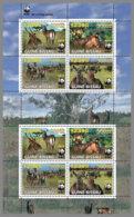 GUINEA BISSAU 2019 MNH WWF Overprint Kobus Ellipsiprymnus Defassa In GOLD FOIL M/S - OFFICIAL ISSUE - DH1938 - W.W.F.