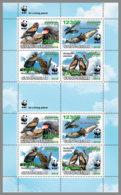 GUINEA BISSAU 2019 MNH WWF Overprint Terathopius Ecaudatus In GREEN FOIL M/S - OFFICIAL ISSUE - DH1938 - W.W.F.