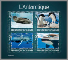 GUINEA REP. 2019 MNH Antarctic Animals Tiere Der Antarktis Animaux De L'Antarctique M/S - OFFICIAL ISSUE - DH1938 - Faune Antarctique