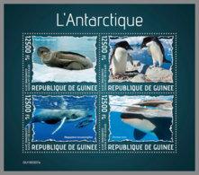 GUINEA REP. 2019 MNH Antarctic Animals Tiere Der Antarktis Animaux De L'Antarctique M/S - IMPERFORATED - DH1938 - Faune Antarctique