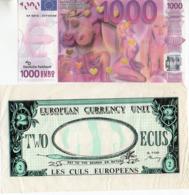 Billet érotic Humoristique 1000 Euros Et Les Culs Europeens Ecus - Specimen