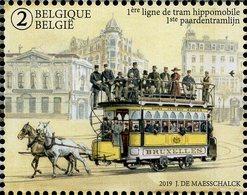 Belgium - 2019 - First Horse-drawn Tram Line - 150 Years - Mint Stamp - Belgium