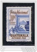 GUATEMALA:  1953  P.A. FIERA  NAZIONALE  -  30 C. OLTREMARE  E  BRUNO  US. -  YV/TELL. 194 - Guatemala