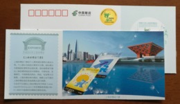 Expo Architecture,Expo Entrance Ticket,China 2010 Shanghai World Exposition Advertising Pre-stamped Card - 2010 – Shanghai (China)