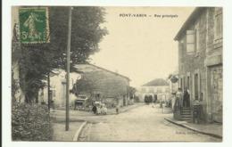 Cpa  PONT - VARIN ,  Rue Principale  - 1917 - Autres Communes