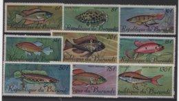PROT 6 - BURUNDI PA 62/70 Neufs** Série Poissons - Burundi
