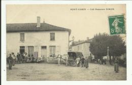 Cpa  PONT - VARIN ,  Café Restaurant SIMON , Attelage  - 1915 - Autres Communes