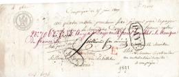 1807 COMPIÈGNE - Billet à Ordre Manuscrit - Endossé - Documentos Históricos