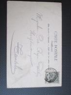 53 - PK Verstuurd Uit Lennick-St Quentin Naar Temse - Chateu De Gaesbeek - 1893-1907 Armoiries