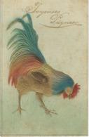 Joyeuses Pâques - COQ - Superbe CPA Gaufrée - Altri