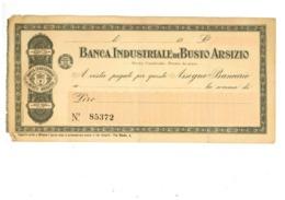 BUSTO ARSIZIO ASSEGNO BANCA INDUSTRIALE - Busto Arsizio