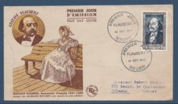 France - FDC - Premier Jour - Gustave Flaubert - Rouen - 1952 - 1950-1959