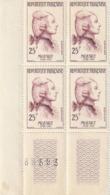 France N° 1137 - MOZART - 1957 - Bloc De 4 Timbres - Unused Stamps