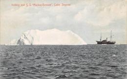 Groenland: Ou Terre-Neuve :   Iceberg And S.S Mackay-Benett Cable Steamer    (voir Scan) - Groenland