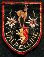 Patch Écusson Tissu Touristique : Italie - Valpelline - Chamois - Edelweiss - Blason Vallée D'Aoste - Ecussons Tissu