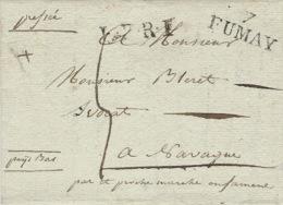1825- Lettre De 7 / FUMAY ( Ardennes ) Pour Les Pays Bas -L.F.R.1  Noir - Marcophilie (Lettres)