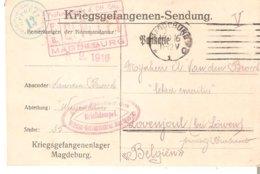 Kriegsgefangenen-Sendung De MAGDEBURG Du 6/9/1916 Vers LOVENJOUL - Guerra '14-'18
