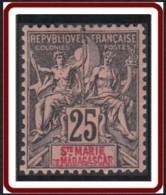 Sainte-Marie De Madagascar - N° 08 (YT) N° 8 (AM) Neuf *. - Nuevos