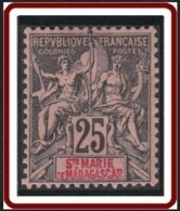 Sainte-Marie De Madagascar - N° 08 (YT) N° 8 (AM) Neuf *. - Madagaskar - Sainte-Marie (1894-1898)