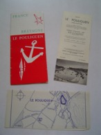 DEPLIANT TOURISME : LE POULIGUEN  / BRETAGNE 1959 - Dépliants Touristiques