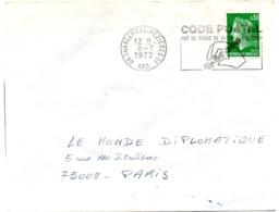 ARDENNES - Dépt N° 08 = CHARLEVILLE-MEZIERES 01 1972 = FLAMME SECAP Illustrée 'CODE POSTAL / MOT DE PASSE ' - Zipcode