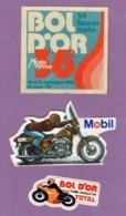 Autocollant Bol D Or Total - Moto Mobil - Bol D Or Le Mans 1972 24 Heures Moto -  - Le Lot De 3 - Autocollants
